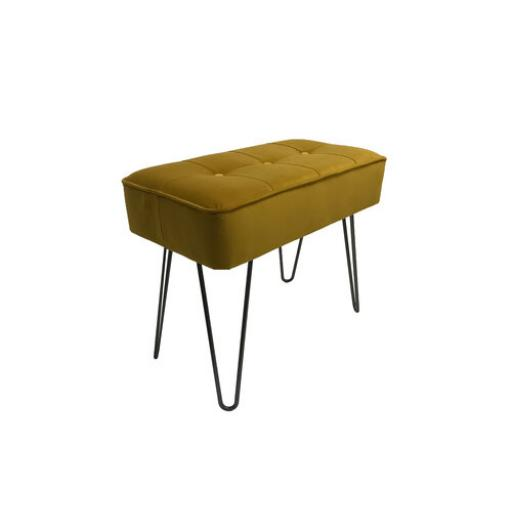 Hairpin Leg Panel Bench Small