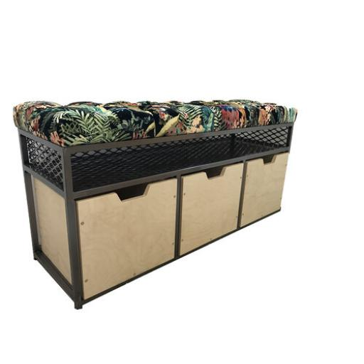 Storage Bench 3-Drawer with Linwood Velvets