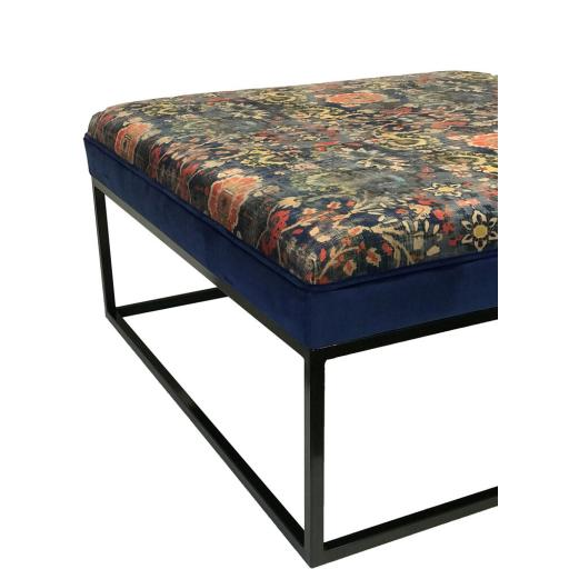Contrast Border Velvet Upholstered Table