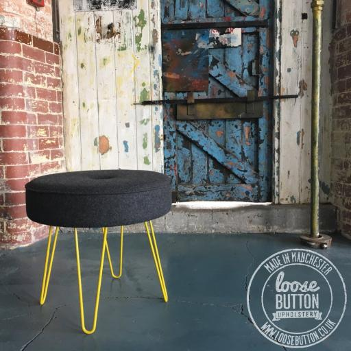 Tall Hairpin Leg Stool