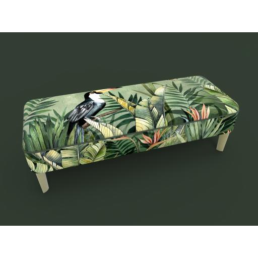Avalana Design Contemporary Footstool - Cloud Forest